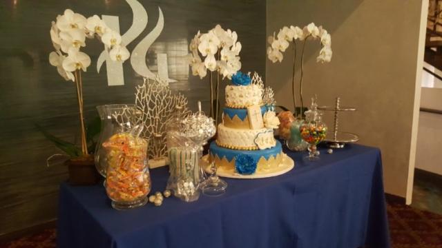 A beautiful cake set up ar Pierre Garden Restaurant and event venue